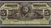 5 Pesos México, 1914 (Banco de Tamaulipas) Chamaquita1