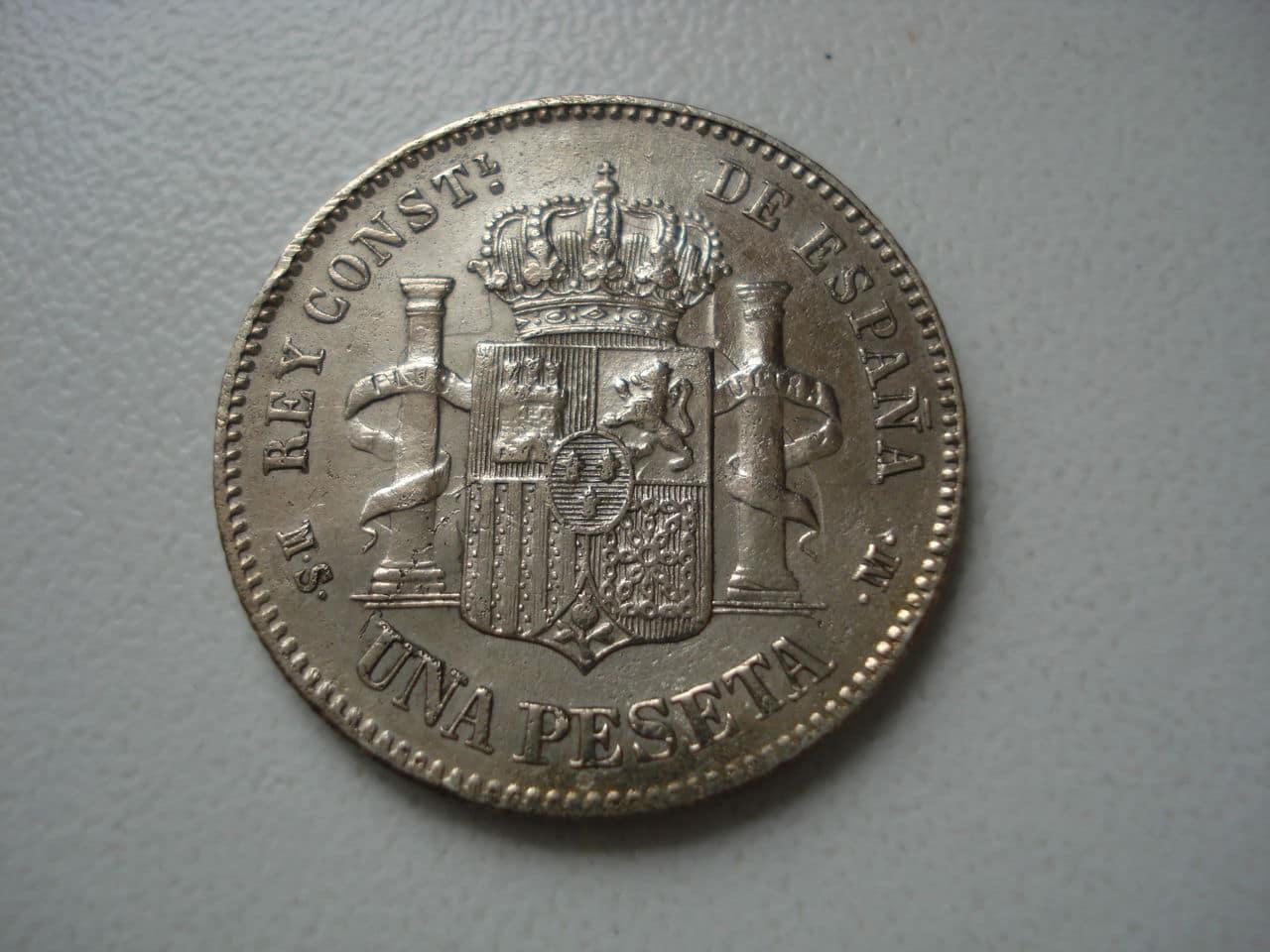1 peseta 1885 *18-86. Alfonso XII Monedas_004