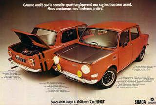 avvistamenti auto storiche - Pagina 38 Simca_1000