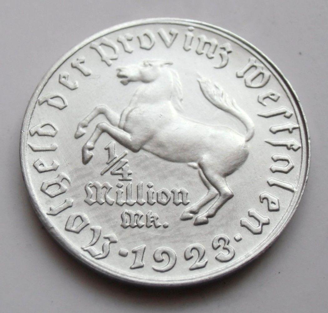Monedas de emergencia emitidas por el banco regional de Westphalia 1923_250b