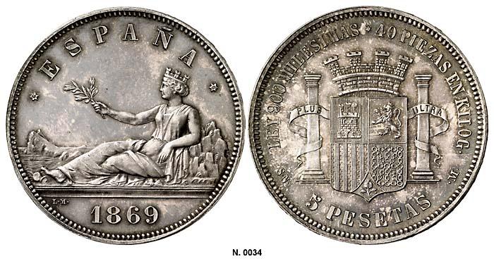 Gobierno Provisional - 5 pesetas - ¿Cuño diferente? 1869_SC