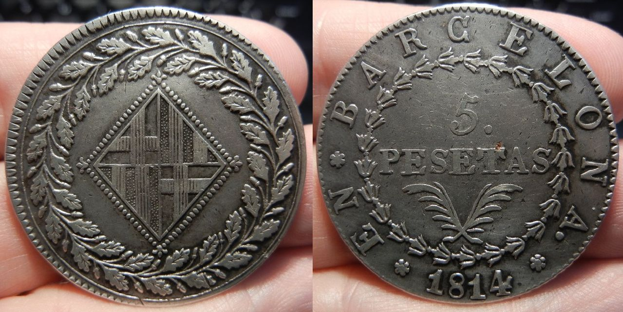 5 Pesetas 1814 Barcelona. Jose I. 5_pesetas_1814_anv