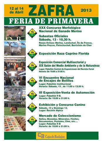II FERIA DEL COLECCIONISTA. FERIA DE PRIMAVERA DE ZAFRA 2013. Zafra
