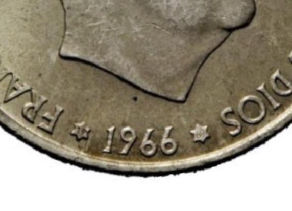 100 pesetas año 69 . Estado Español . estrella trucada?? Image