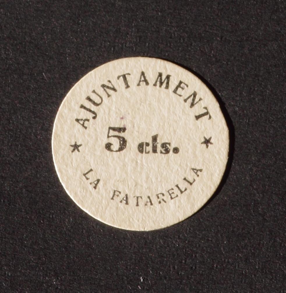 5 Céntimos La Fatarella, 1937 IMG_2856