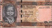 25 Pound Sudan del Sur,  2011 South_Sudan_25_pound_2011