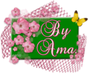 Flores Rosas sobre Tarjeta en Verde  Image