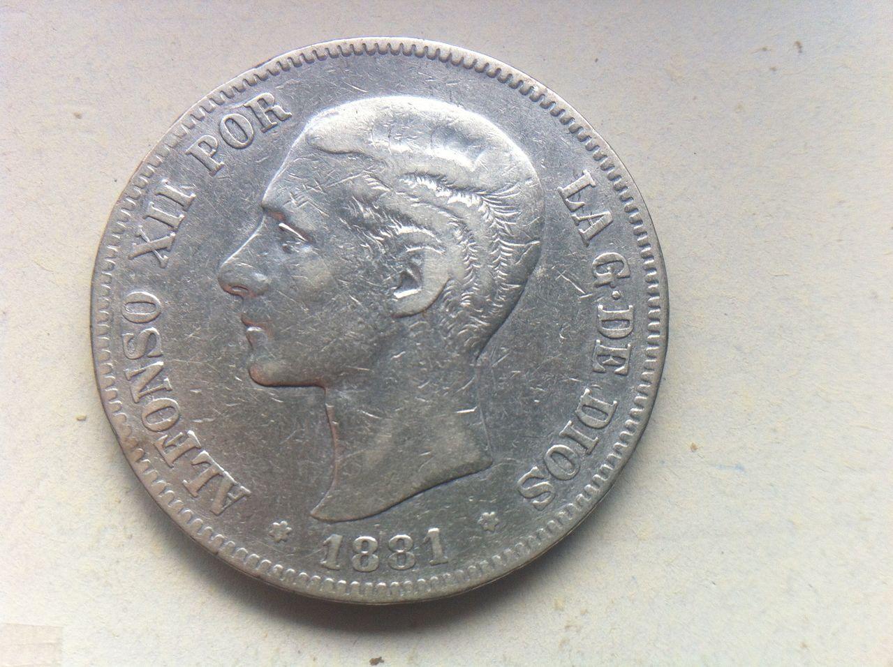 5 pesetas 1881 Alfonso XII,  IMG_3699