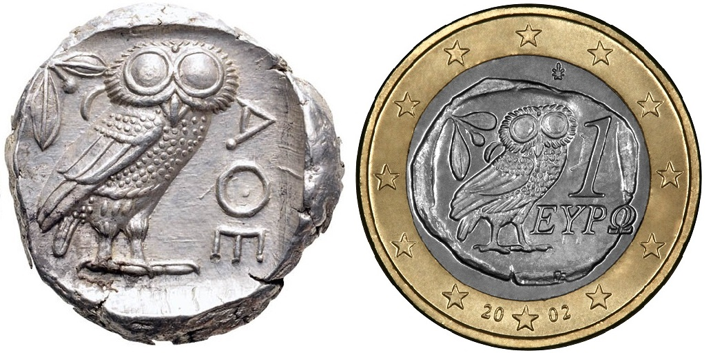 Tetradracma ático. Atenas. 449-413 a.C. Tetradracma_y_euro898