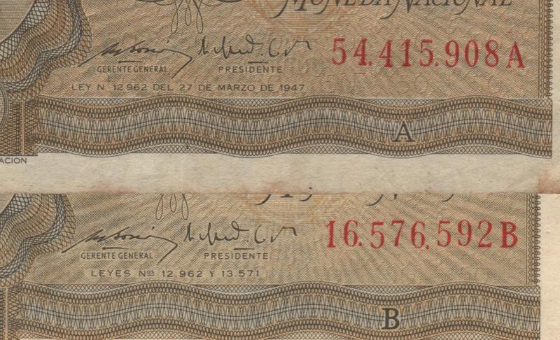 1 Peso Argentina, 1947 Detalles