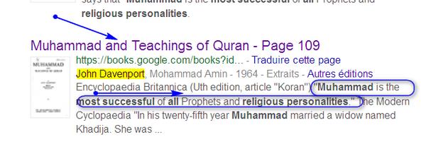 Que disent- ils sur Mahomet Muhammzd