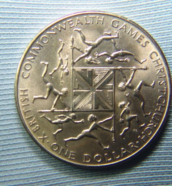 1 dolar de Nueva Zelanda de 1974.Commonwealth Games. Ass