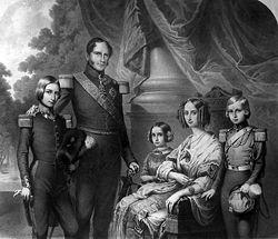5 francos belgas 1851 Leopoldo I 250px_Leopold_I_family