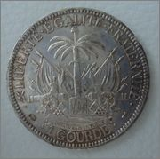 1 Gourde. Rep. de Haiti. 1887. París  Image