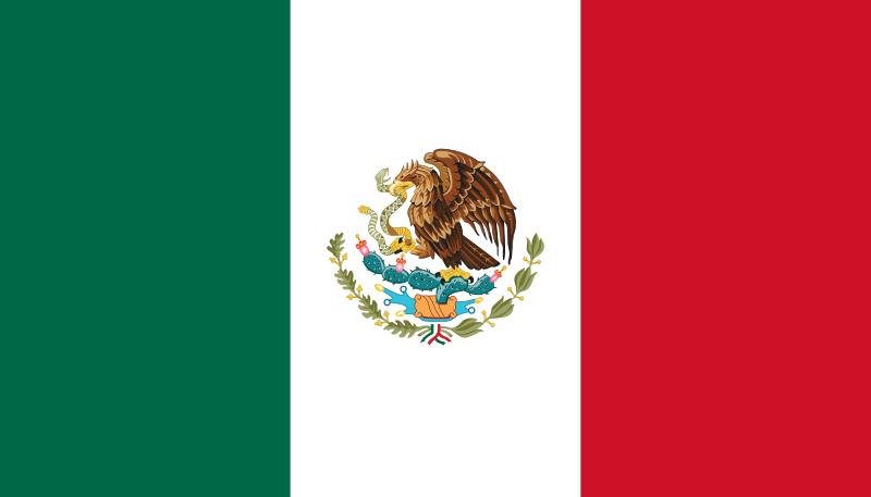 2 Pesos. México. 1945  Flag_of_Mexico_svg