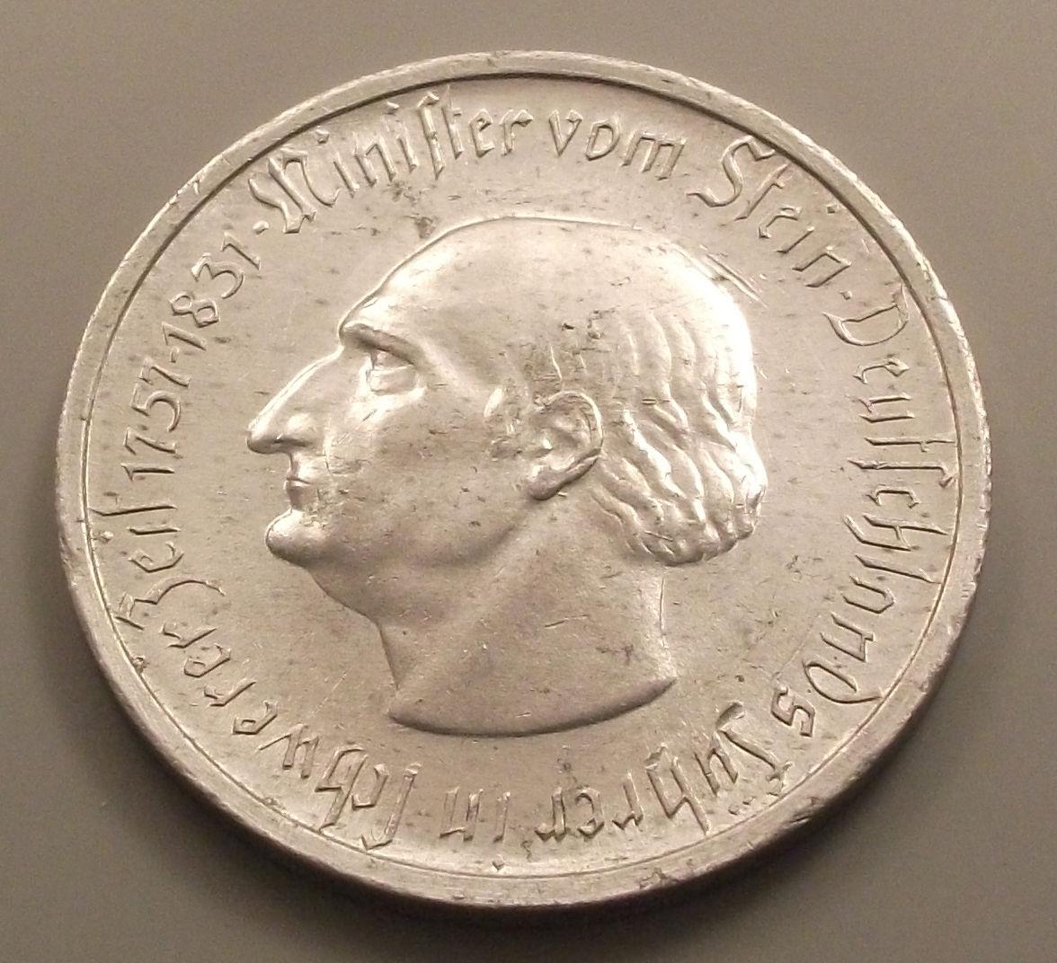 Monedas de emergencia emitidas por el banco regional de Westphalia 1923_50mc