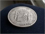 5   pesetas  1885*18-87* Alfonso XII - M.S.M  20131121_155843