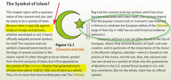 croissant et l'étoile n'est pas les symboles de l'Islam Image