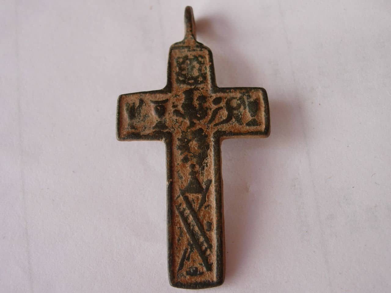 Crucifíjo bifaz arma christi, S-XVIII Imagen_075
