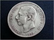 5   pesetas  1885*18-87* Alfonso XII - M.S.M  20131121_155559