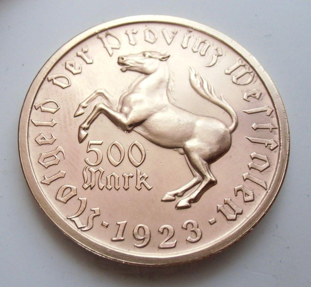 Monedas de emergencia emitidas por el banco regional de Westphalia 1923_500b