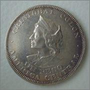 1 Peso 1908 Republica del Salvador (Colón) Image