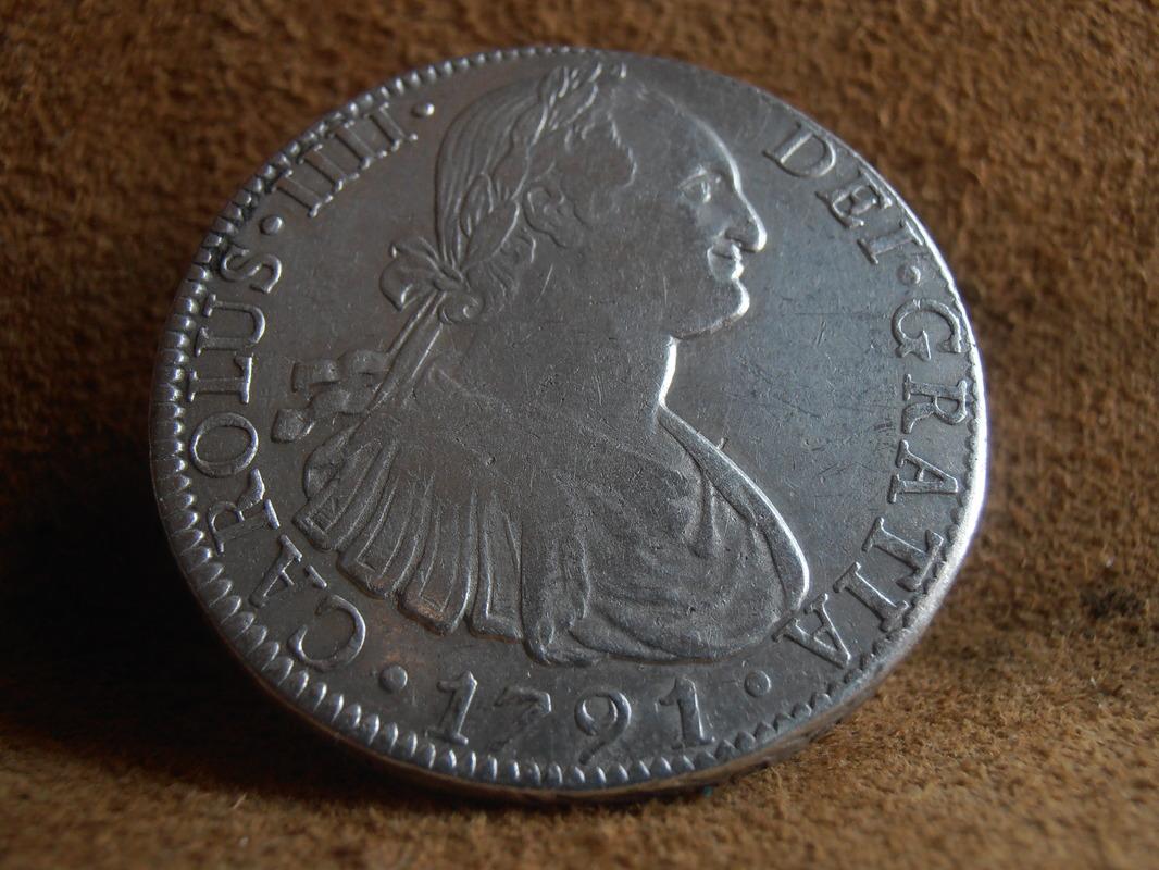 8 Reales 1791. Carlos IIII. México. FM P6240004