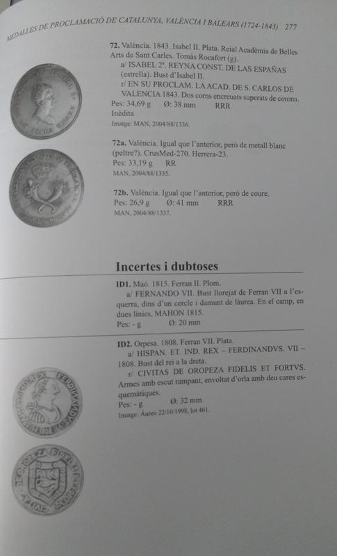 Novedad: Les medalles de proclamació de les terres de parla catalana. Catalunya, València i Balears (1724-1843) - Página 6 Mproc09