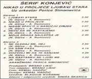 Serif Konjevic - Diskografija 1990_z