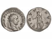 Antoniniano de Valeriano I. VIRTVS AVG. Soldado estante a izq. Mediolanum. IMG_1543