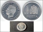 1 peseta 1984- proof?? Image