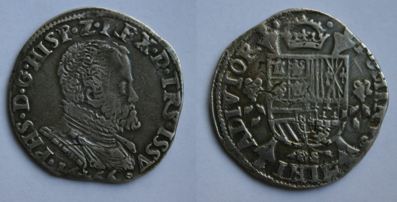 1/5 escudo 1566. Felipe II. Overijssel. 1_5_Philipsdaalder_1566_Overijssel_2