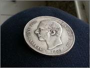 5   pesetas  1885*18-87* Alfonso XII - M.S.M  20131121_155928