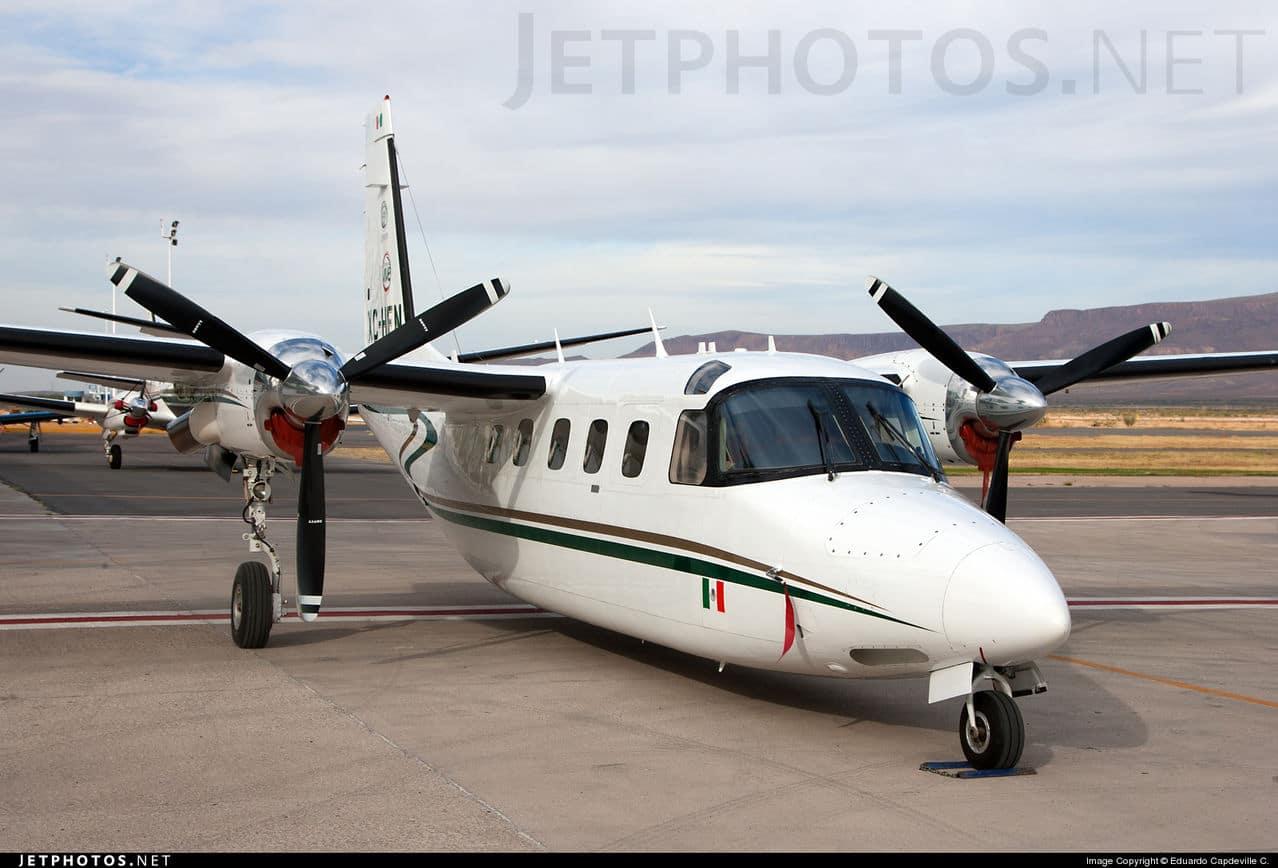 Aeronaves  Matriculas  XC-  ( Por Estados) Chihuahua_Gulfstream_Commander_695_A_Jetprop_1000