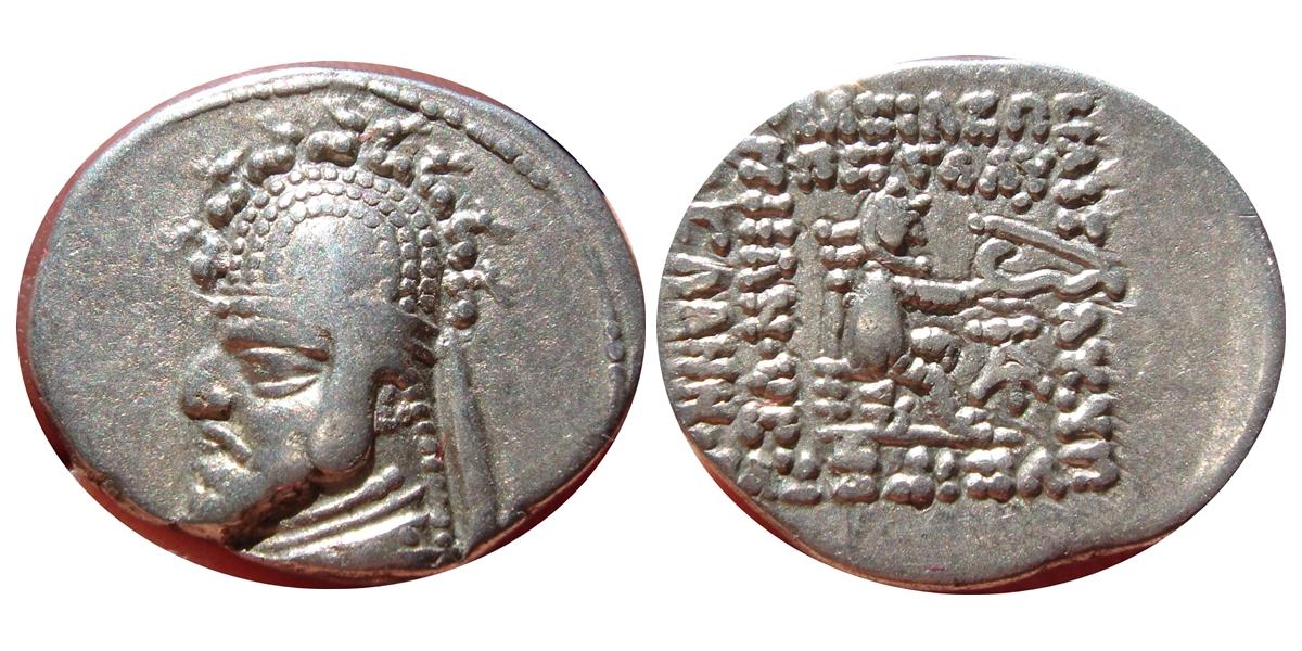 Dracma de Phraates III. 154