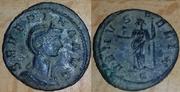 Denario de Severina. VENVS FELIX. Venus estante a izq.  Ceca Roma. Image