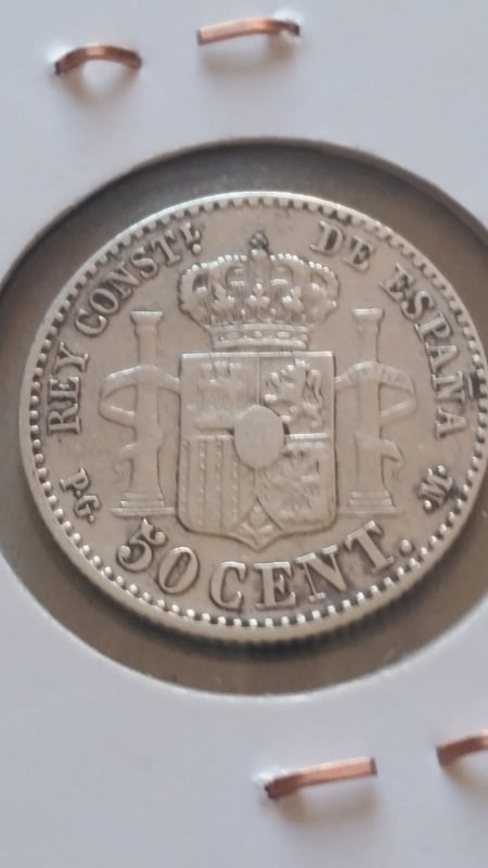 50 centimos Alfonso XIII 1892 *6 *2 20160806_175131