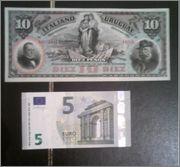 10 pesos Uruguay 1887 (Banco Italiano del Uruguay) Uru3