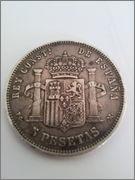 5 Pesetas 1891 (* 18-91) Alfonso XIII (PELÓN), manchas negras Duro1