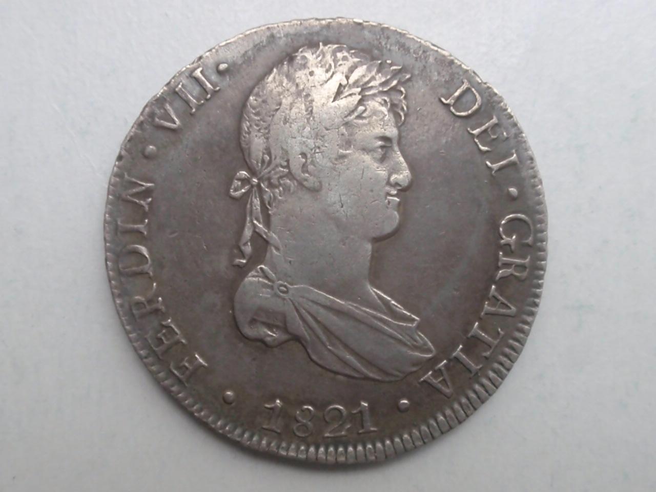 8 Reales de Fernando VII, Lima. Año 1821. 1821_LMA_001