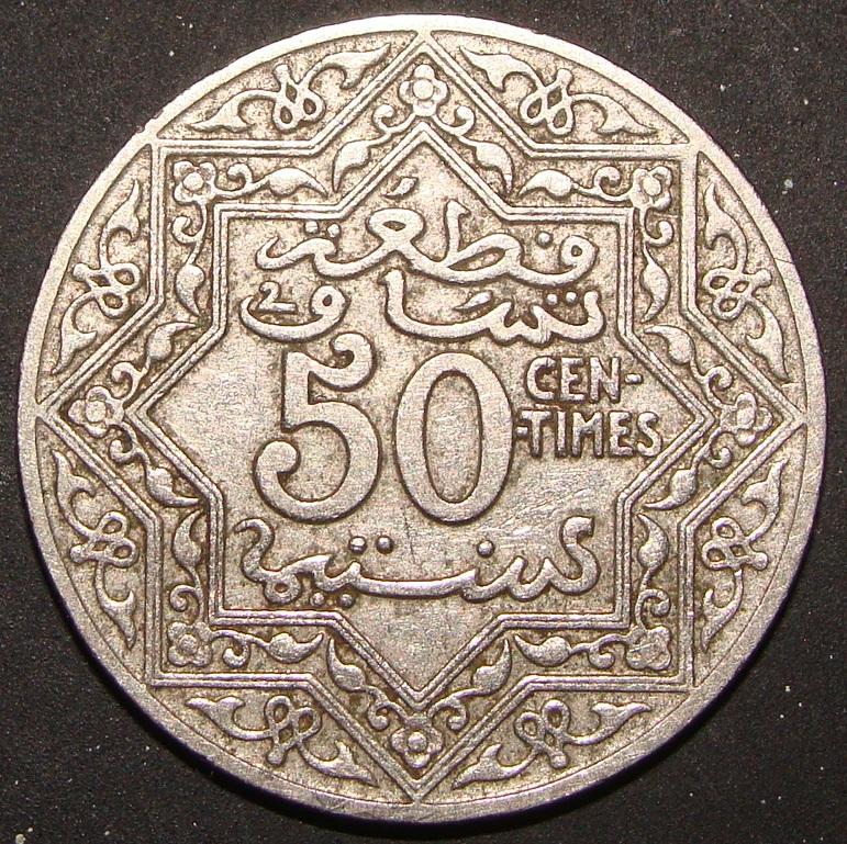 50 Céntimos de Franco. Marruecos (1921) MAR_50_C_ntimos_Franco_ND_rev