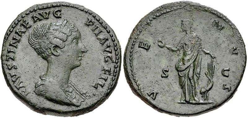 As de Faustina II. VENVS - S C. Ceca Roma. RIC_1388c