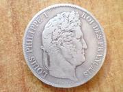5 francos 1848 Luis Felipe I de Orleans Duda. P1440606