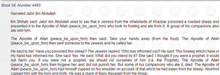 Mahomet, mort empoisonné? Image