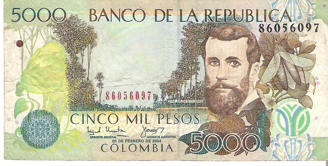 5.000 Pesos Colombianos, 2006  Image