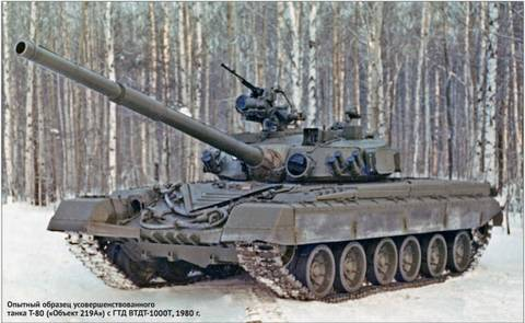 «Объект 219А» - основной боевой танк (опытный) IsdYl