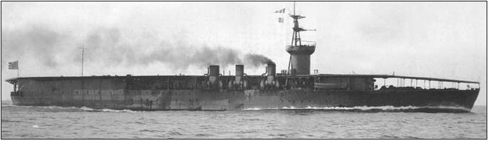 Los primeros portaaviones Hosho_1922