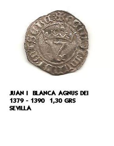 Blanca del Agnus Dei. Juan I (1379-1390). Sevilla. Blanca_agnus_dei