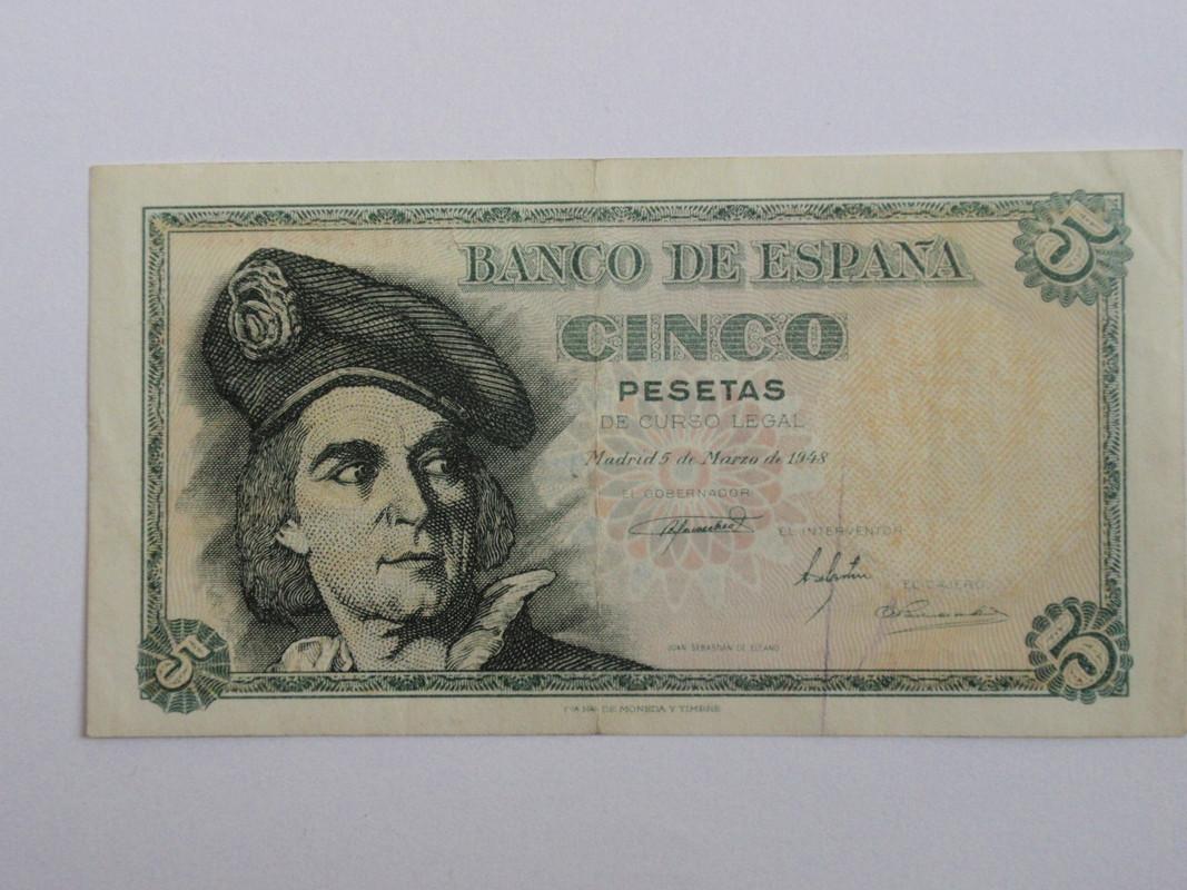 5 pesetas Elcano 1948 51948a