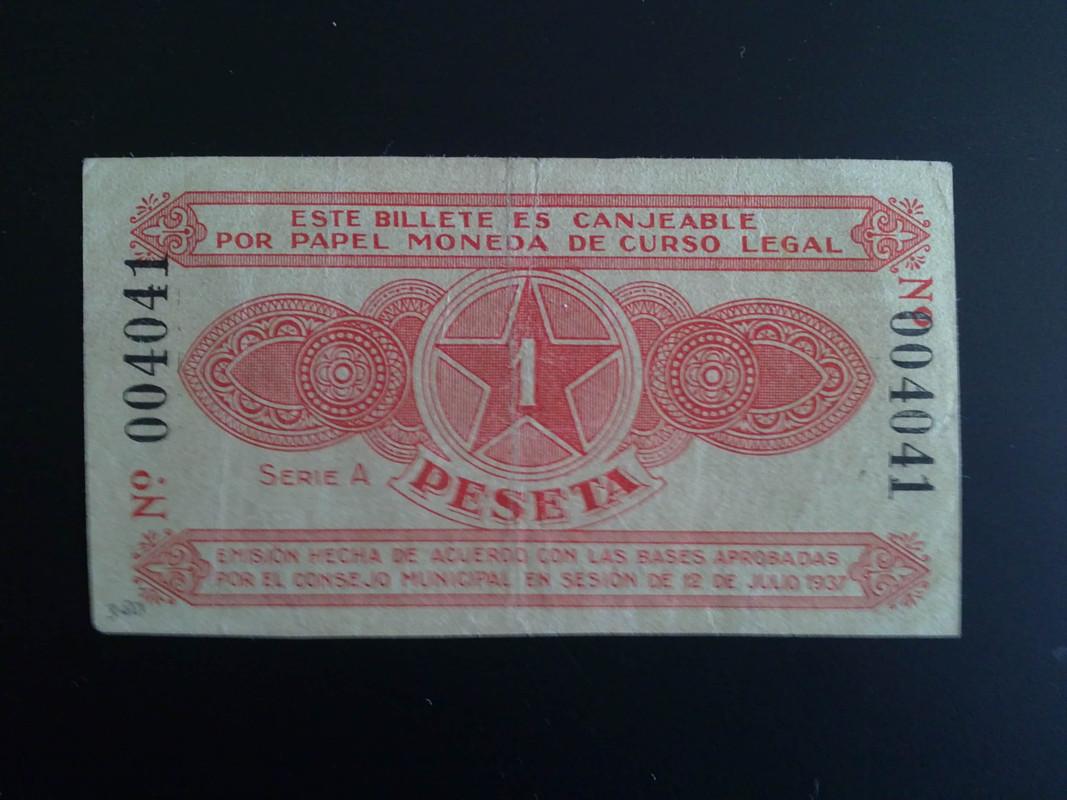 1 Peseta Alcoy, 1937  (2ª emision ) 14012013977